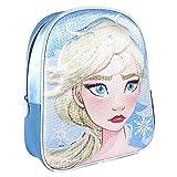 Cerdá, Mochila Infantil Frozen 2 con Lentejuelas 3D de Color Azul-Licencia Oficial Disney Studios...