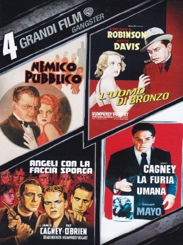 4 grandi film - Gangster - Nemico pubblico + L'uomo di bronzo + Angeli con la faccia sporca + La furia umana [Italia] [DVD]