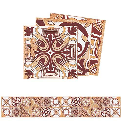 Njuyd - Lote de 24 pegatinas para azulejos (20 x 20 cm)