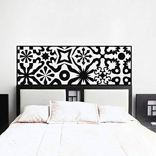 YuanMinglu Mesita de Noche Moderna decoración Dormitorio calcomanía de Pared Color sólido decoración del hogar Negro 120X42cm