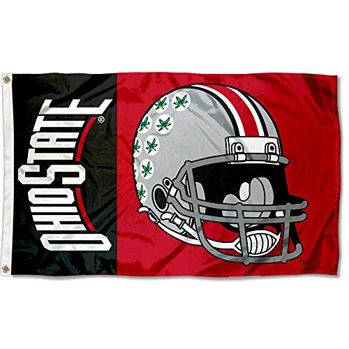 College Flags & Banners Co. Ohio State Buckeyes Football Helmet Flag