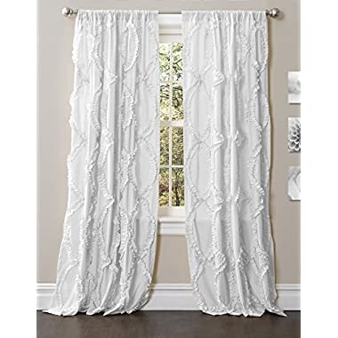 Lush Decor Avon Window Panel, 84 by 54-Inch, White