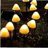 Luces Decorativas Solares De Setas, Luces De Champiñones Al Aire Libre De Jardín 30leds 6.5m