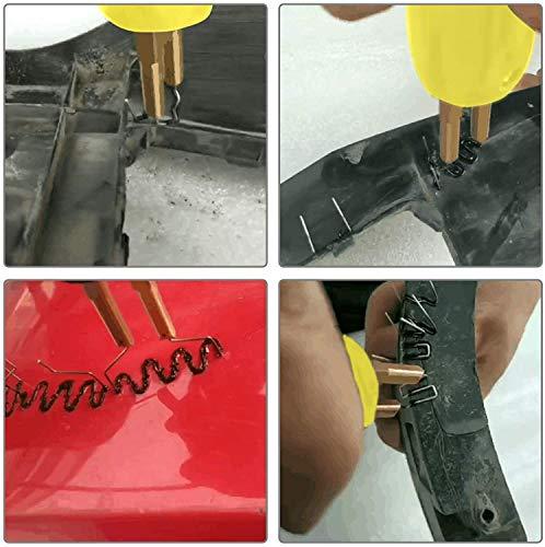 OIMERRY Bumper Plastic Welding Kit with 800pcs Staples, 110V Hot Stapler Gun Plastic Welder