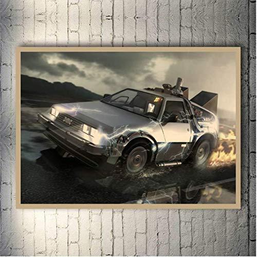 baiyinlongshop Regreso Al Futuro 1 2 3 Hot Movie Poster Art Canvas Print Poster para La Sala De Estar Decoración Bar Decoración 40X60Cm Sin Marco