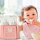 DJLOOKK Babyflaschenwärmer mit LCD-Display und präziser Temperaturregelung, elektrischer Babymilchwärmer, BPA-freier Schnellwärmer Babynahrungserhitzer für Muttermilch und Säuglingsnahrung
