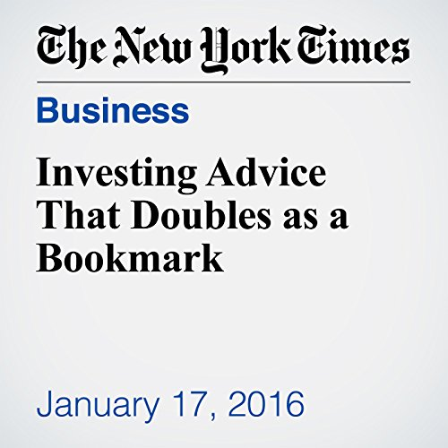 Investing Advice That Doubles as a Bookmark audiobook cover art