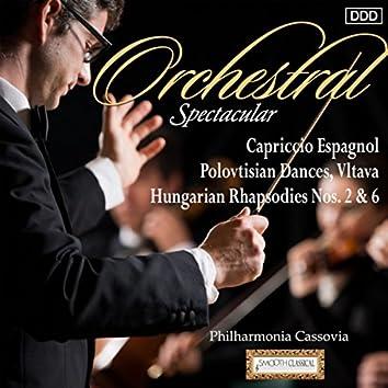 Orchestral Spectacular: Capriccio Espagnol, Polovtisian Dances, Vltava, Hungarian Rhapsodies Nos. 2 & 6