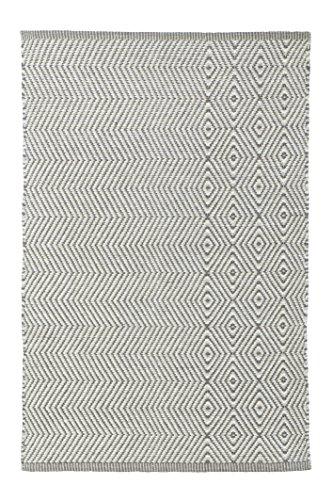Jute & Co. Vienna handdoek, 100% katoen, grijs/wit, 60 x 120 cm