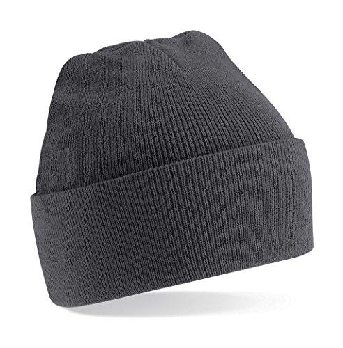 Beechfield B045.GPH Cuffed Bonnet Mixte, Noir, Taille Unique