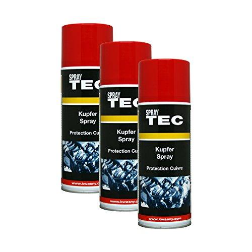 3X KWASNY 235 040 Auto-K Spray TEC Kupfer-Spray Schutz Bremsen 400ml