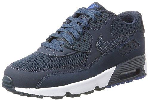 Nike Jungen Air Max 90 Mesh (GS) Gymnastikschuhe, Blau (Armory Navy/armory Navy/blue Jay/white), 37.5 EU