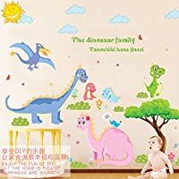 デカールビニールスターウォールステッカーステッカー取り外し可能な漫画素敵な恐竜ファミリーウォールステッカー幼稚園ポスター子供子供部屋寝室家の装飾ウォールステッカー