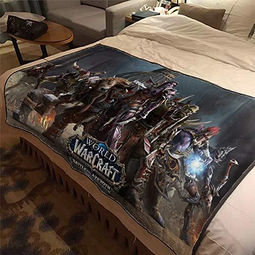ASDIWON World of Warcraft Flanelldecke für Sofa, Bett, warm, weich, geeignet für Klimaanlage, Decke für Nickerchen, 150 x 200 cm