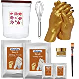 DIY KIT – this rubbery mould captures every fine line and fingerprint and forms a stronger mold SKIN FRIENDLY - safe to skin dust free this hand sculpture kit for couple is long shelf life IN THE BOX - bucket moulding powder casting powder mixing too...