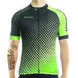 Racmmer Men's Short Sleeve Cycling Jersey MTB Bike Clothing Fluorescent Green
