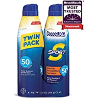 2-Pack Coppertone Sport Continuous Sunscreen Spray Broad Spectrum SPF 50
