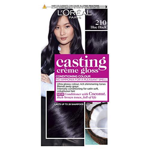 L'Oreal Paris Casting Crème Gloss, Crema Colorante sin Amoniaco, Negro Azulado 210
