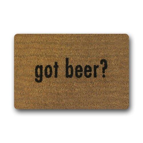 Doormat No.01 Personalizar diseño a la Moda Got Cerveza Felpudo Durable Resistente al Calor Non-Woven Fabric Top Felpudo tamaño 60cm (L) X 40cm (W)