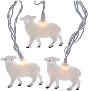 Kurt S. Adler UL 10 Sheep Set Novelty Lights, Multi