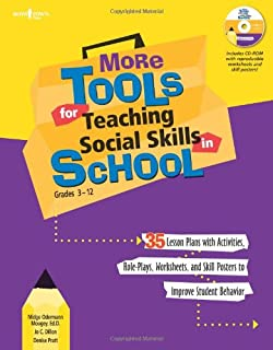 More Tools for Teaching Social Skills in School: Grades 3-12 (Book & CD Rom)
