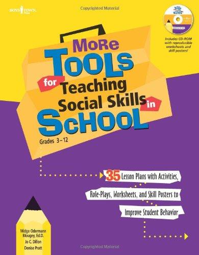 More Tools For Teaching Social Skills In School Grades 3 12 Book Cd Rom
