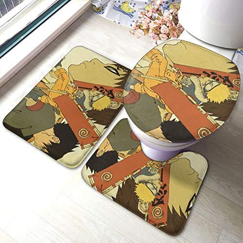 Anime NARUTO Uzumaki Naruto - Alfombrilla antideslizante para baño (39,8 x 59,9 cm)