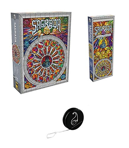 Sagrada Spiel + Erweiterung Sagrada 5 bis 6 Spieler + Yoyo Blumie