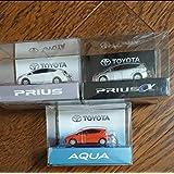 トヨタ 新型プリウスPHV PRIUS AQUA アクア PHV LED ミニカー キーホルダー 3種セット