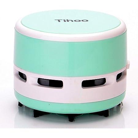 Peetoko 卓上そうじ機 卓上掃除機 強力吸引 静音 簡単操作 事務所のテーブル、キーボード、家具の表面、座布団などの掃除にご使用いただけます