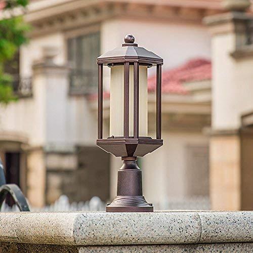 J-Réverbères Pilier Lampe jardin Outdoor Post Light Patio piédestal Lumières étanche E27 Jardin Colonne Lampe Balcon Paysage éclairage Rue Communauté Post Lumière