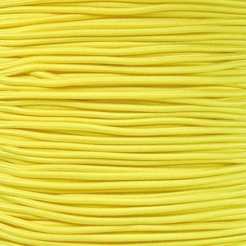 Golberg 1/8 Inch Diameter Shock Cord - Elastic Stretch Rope for Custom Bungee Lengths - (Neon Yellow, 10 Feet)