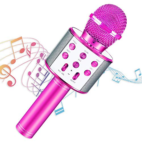 SEPHIX Kids Toys for 5-12 Years Old Girls Gifts, Portable Bluetooth Karaoke Singing Microphone for Kids Toys Age 5-10, Christmas Birthday Gifts for 5 6 7 8 9 Year Old Girls Toys Age 6 7 8 9 Children
