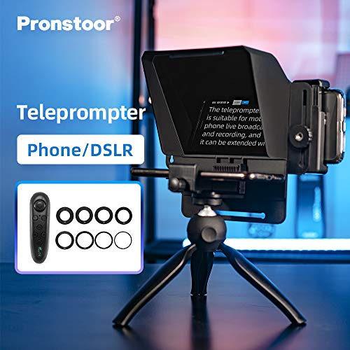 AMBITFUL Mini Teleprompter Portable Inscriber Mobile Teleprompter Artifact Video with Remote Control for Phone and DSLR Recording (Mini Teleprompter+Mini Tripod)