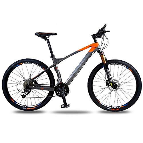 Chenbz Deportes al aire libre en bicicleta de montaña cola dura, bicicleta de fibra de carbono de 26 pulgadas 30 Speed Shift cola dura doble disco de freno de disco de aceite adulta campo a través d