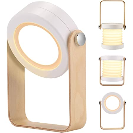 BLOOMWIN Lampe de Chevet Pliable Portable Dimmable Veilleuse avec 3 Niveaux de Luminosité Touch Control Lampe de Table Lumière Blanc Chaud Enfant Lampe de Nuit pour Chambre Salle Camping Lecture
