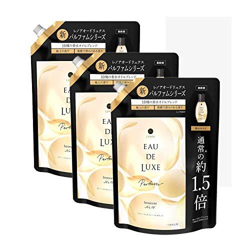 【まとめ買い】レノア オードリュクス パルファム 柔軟剤 10種の香水オイル イノセントNo.10 詰め替え 特大 600mL×3