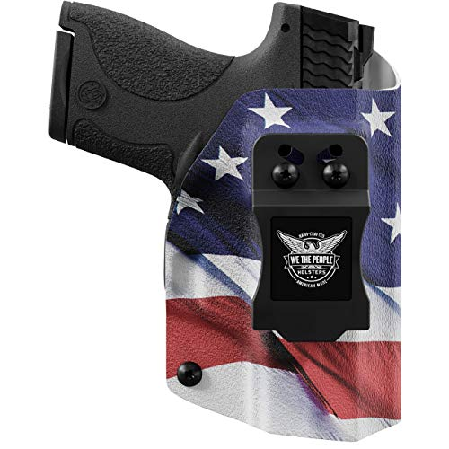 We The People Holsters - American Flag - Left Hand Inside Waistband Concealed Carry Kydex IWB Holster Compatible with Glock 19 23 32 45 19X Gen 3-4-5 w/Streamlight TLR-7 Light