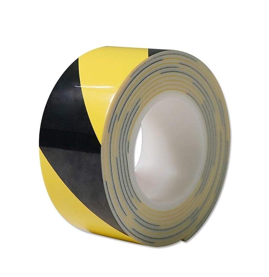 セーフラン(SAFERUN) クッショントラテープ 60mm×3m イエロー/ブラック 発泡ポリエチレン 厚さ3mm