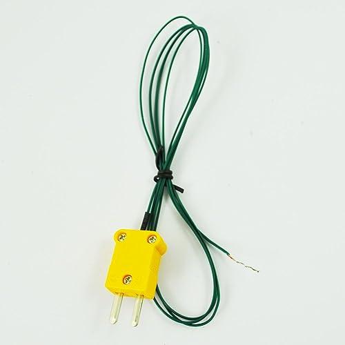 Termopar de tipo K R TOOGOO WRNK-187 Tipo K 0-1100C Sensor de temperatura de sonda termopar 3x200mm