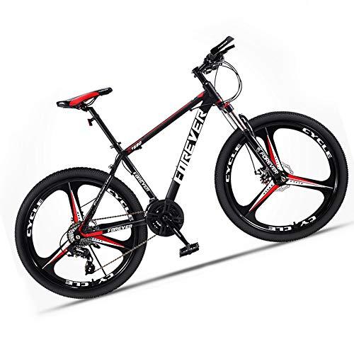 Mountain bike da adulto, da uomo, in acciaio ad alto carbonio, velocità, per mountain bike, con sospensione anteriore e freno a disco meccanico 24 Speed 27.5 Inch Rosso