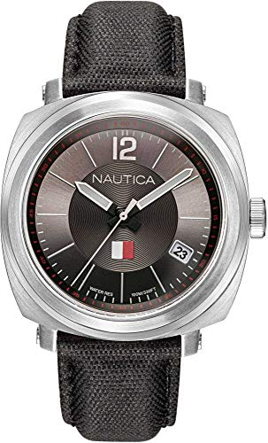 Nautica Watch NAPPGP903 Park Gate Analog, wasserfest, Datumsanzeige, beleuchtete Handgriffe, Schwarz