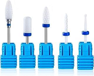 Lumcrissy Nail Drill Bits,- 3/32'' (2.35mm) Ceramic Nail Drill Bits for Acrylic Nails, Professional Ceramic Nail Drill Bit...