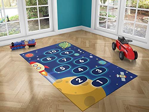 Oedim Alfombra Infantil Rayuela Espacio para Habitaciones PVC   95 x 200 cm   Moqueta PVC   Suelo vinílico   Decoración del Hogar   Suelo Sintasol   Suelo de Protección  