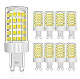MENTA Bombillas LED G9 10W, Equivalente a 80W Halógena, Blanco Frío 6000K, 800lúmenes, 86-SMD 2835 Lámpara Bombilla, 220-240 VAC, No Regulable, Ángulo de Luz de 360°, Garantía de 2 año, Pack de 8