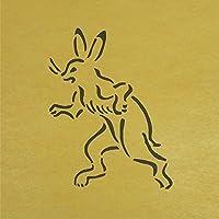 ステンシルシート 兎 鳥獣戯画 3サイズ型紙  (10cm)