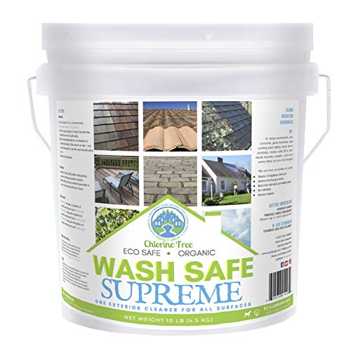 Wash Safe Industries - WS-SU-10LB SUPREME CLEAN Eco-Safe and All Natural Exterior Surface Cleaner, 10 lb Container