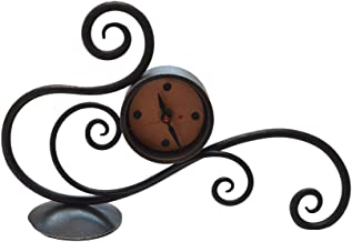 product image for Blackthorne Forge - Iron Scrolled Table Clock