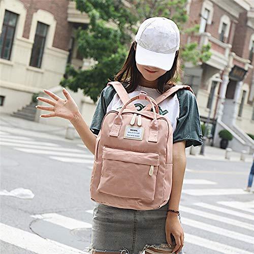Mode Rucksack Mode Frauen Leinwand Rucksäcke Leinwand tragbare Umhängetasche wasserdichte Schultaschen für Teenager Mädchen Patchwork Rucksack PK