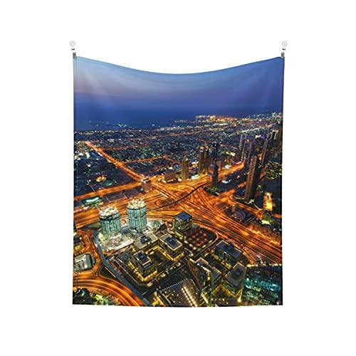 Tapiz de pared para dormitorio, sala de estar, dormitorio, sala de estar, dormitorio al aire libre, tapiz para colgar en la pared de Burj Khalifa Dubai Uae
